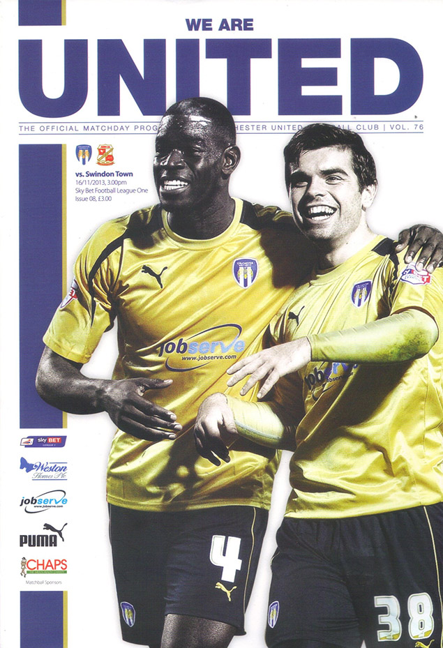 <b>Saturday, November 16, 2013</b><br />vs. Colchester United (Away)