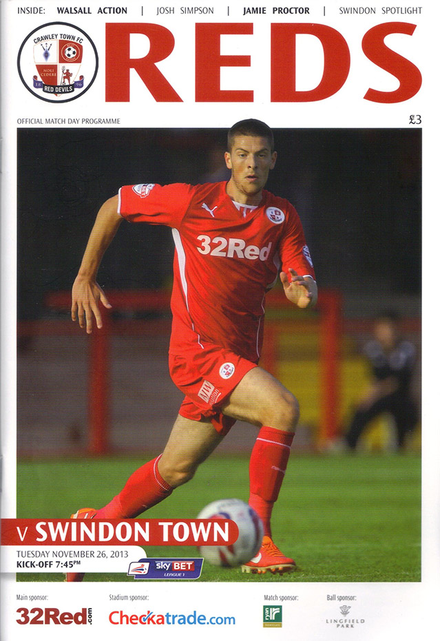 <b>Tuesday, November 26, 2013</b><br />vs. Crawley Town (Away)