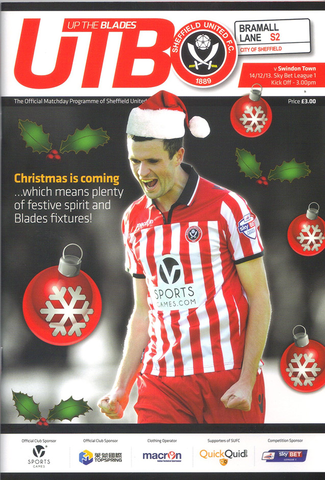 <b>Saturday, December 14, 2013</b><br />vs. Sheffield United (Away)