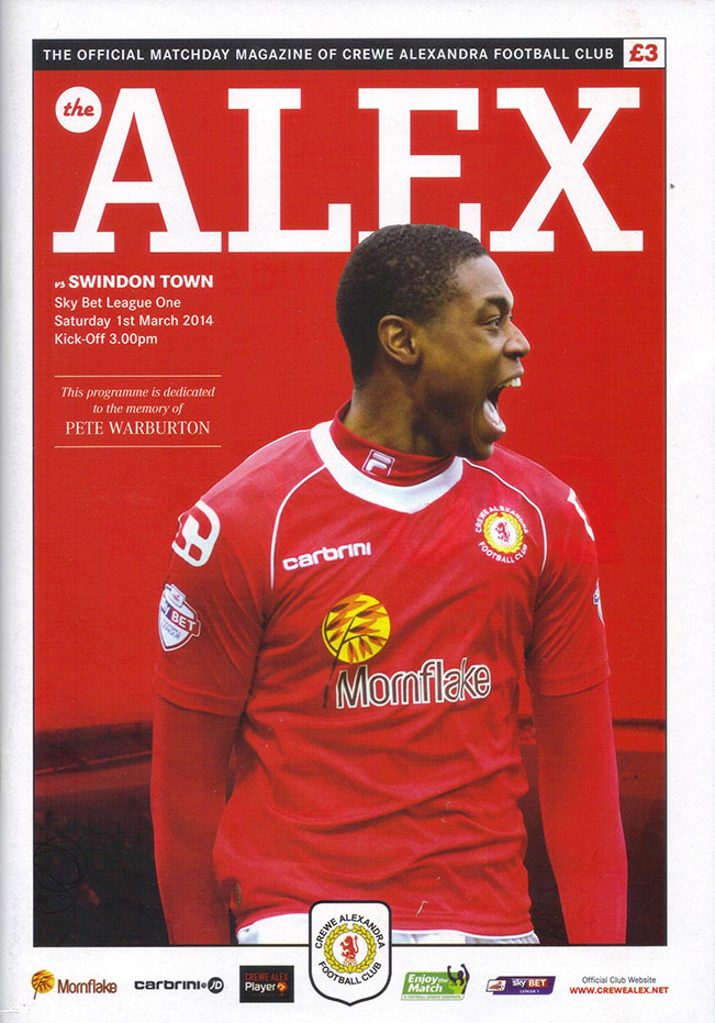 <b>Saturday, March 1, 2014</b><br />vs. Crewe Alexandra (Away)