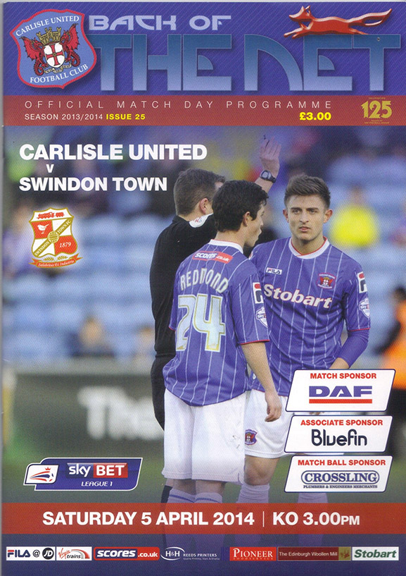 Saturday, April 5, 2014 - vs. Carlisle United (Away)