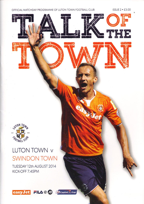 <b>Tuesday, August 12, 2014</b><br />vs. Luton Town (Away)
