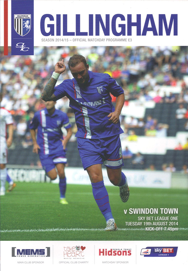 <b>Tuesday, August 19, 2014</b><br />vs. Gillingham (Away)