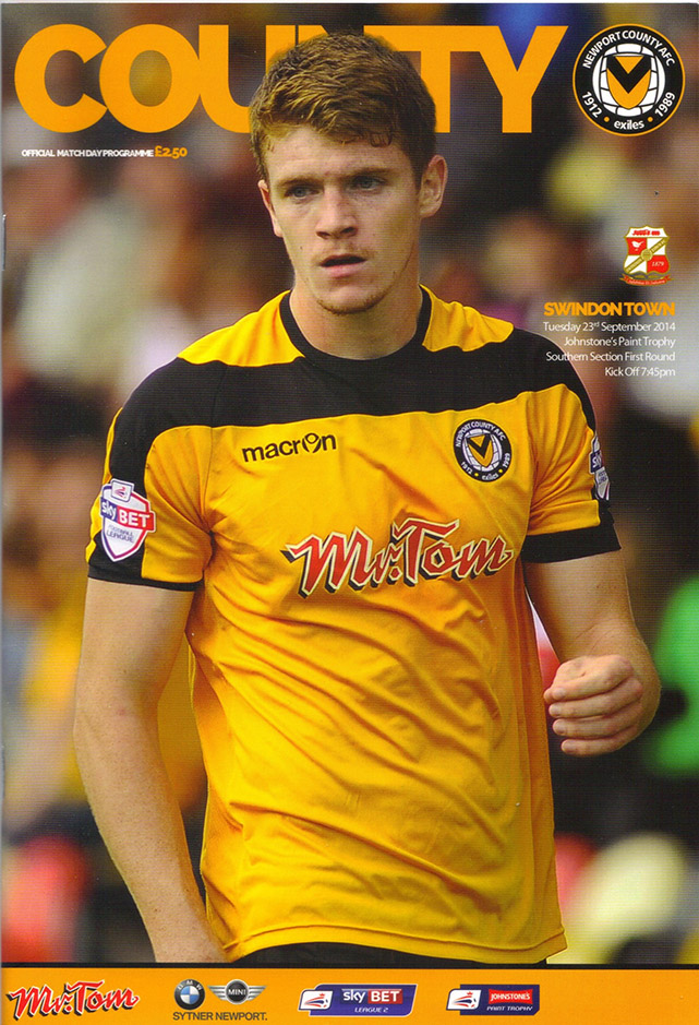 <b>Tuesday, September 23, 2014</b><br />vs. Newport County (Away)
