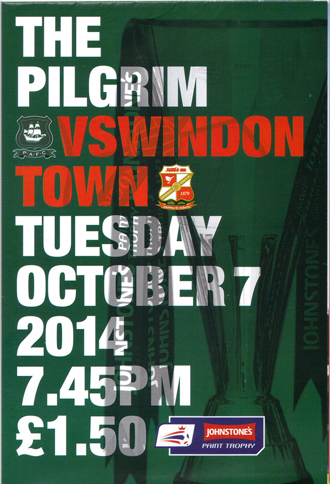 <b>Tuesday, October 7, 2014</b><br />vs. Plymouth Argyle (Away)
