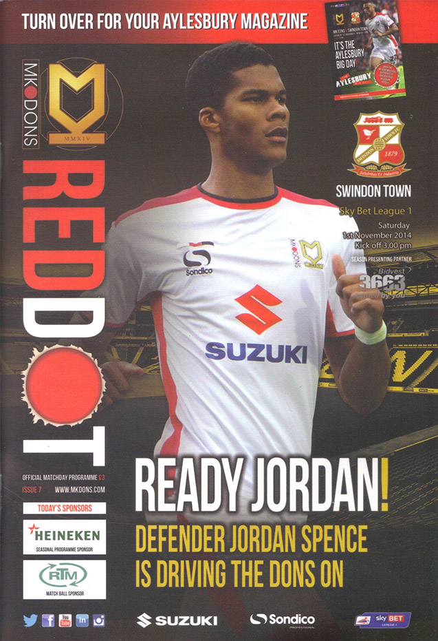 <b>Saturday, November 1, 2014</b><br />vs. Milton Keynes Dons (Away)