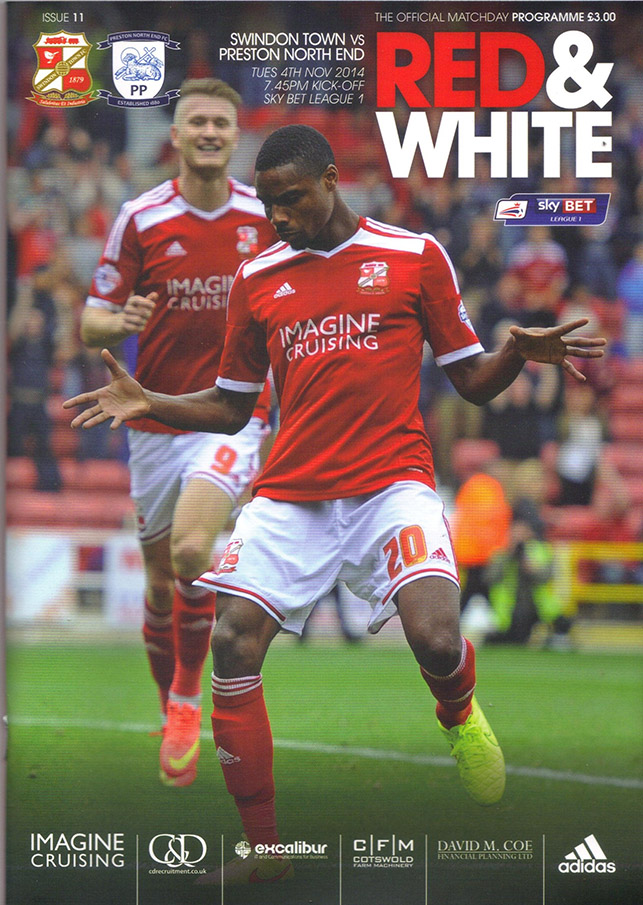 <b>Tuesday, November 4, 2014</b><br />vs. Preston North End (Home)