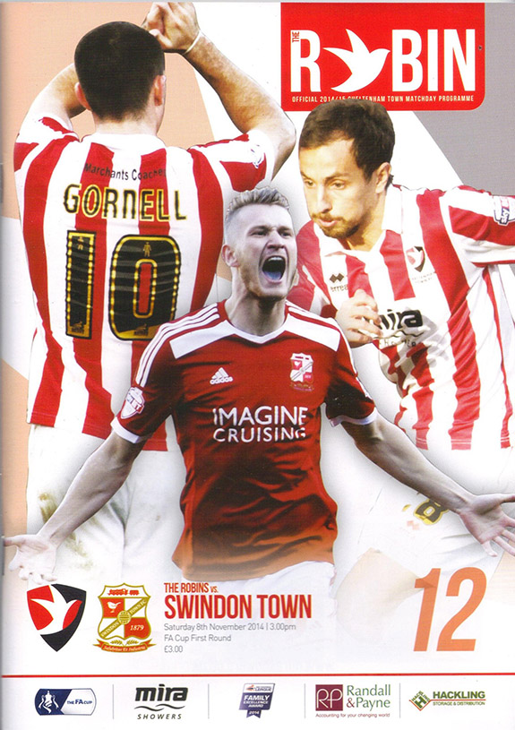<b>Saturday, November 8, 2014</b><br />vs. Cheltenham Town (Away)