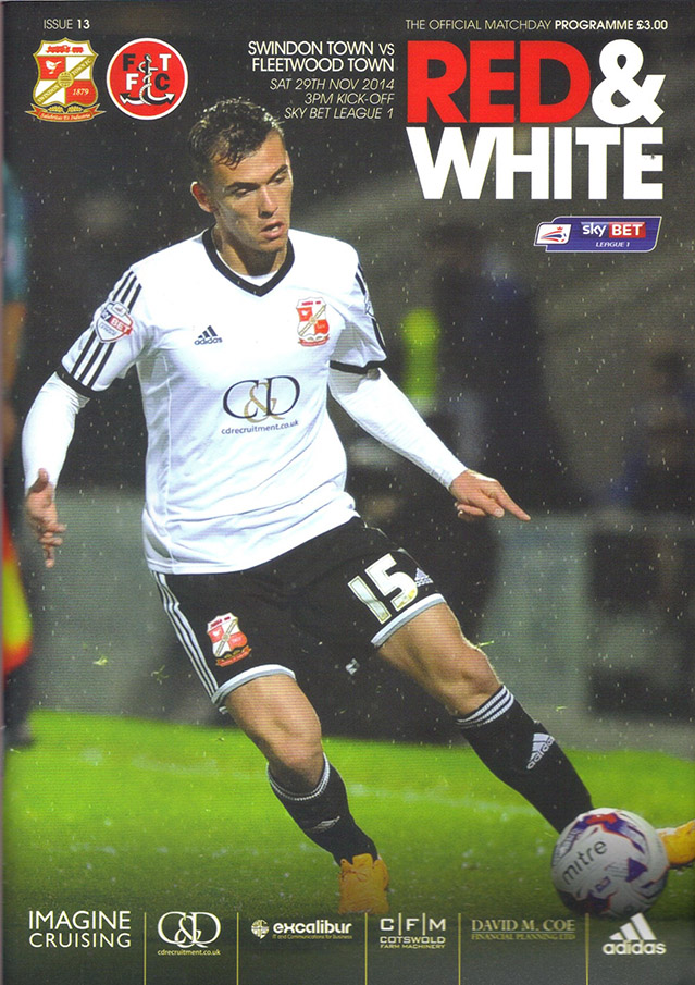 <b>Saturday, November 29, 2014</b><br />vs. Fleetwood Town (Home)