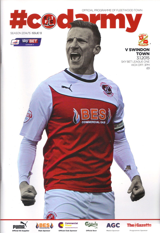 <b>Saturday, January 3, 2015</b><br />vs. Fleetwood Town (Away)