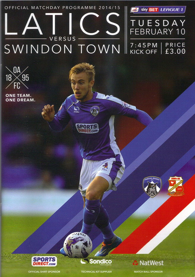 Tuesday, February 10, 2015 - vs. Oldham Athletic (Away)