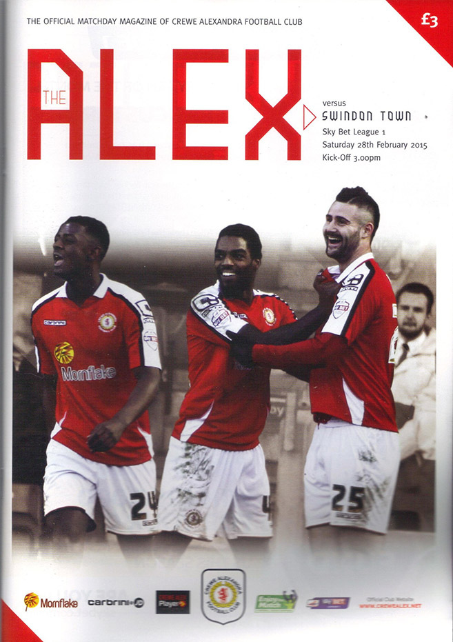 <b>Saturday, February 28, 2015</b><br />vs. Crewe Alexandra (Away)