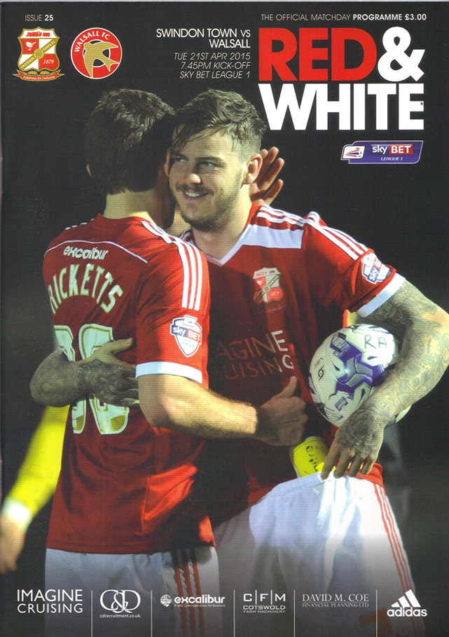 <b>Tuesday, April 21, 2015</b><br />vs. Walsall (Home)