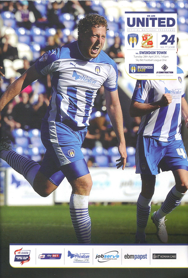 <b>Tuesday, April 28, 2015</b><br />vs. Colchester United (Away)