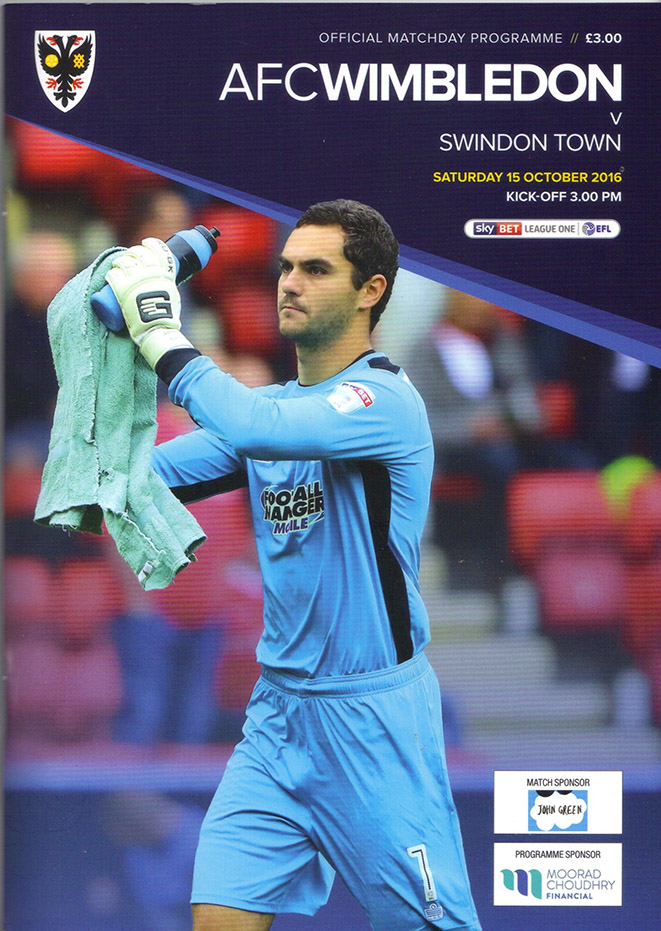 Saturday, October 15, 2016 - vs. AFC Wimbledon (Away)