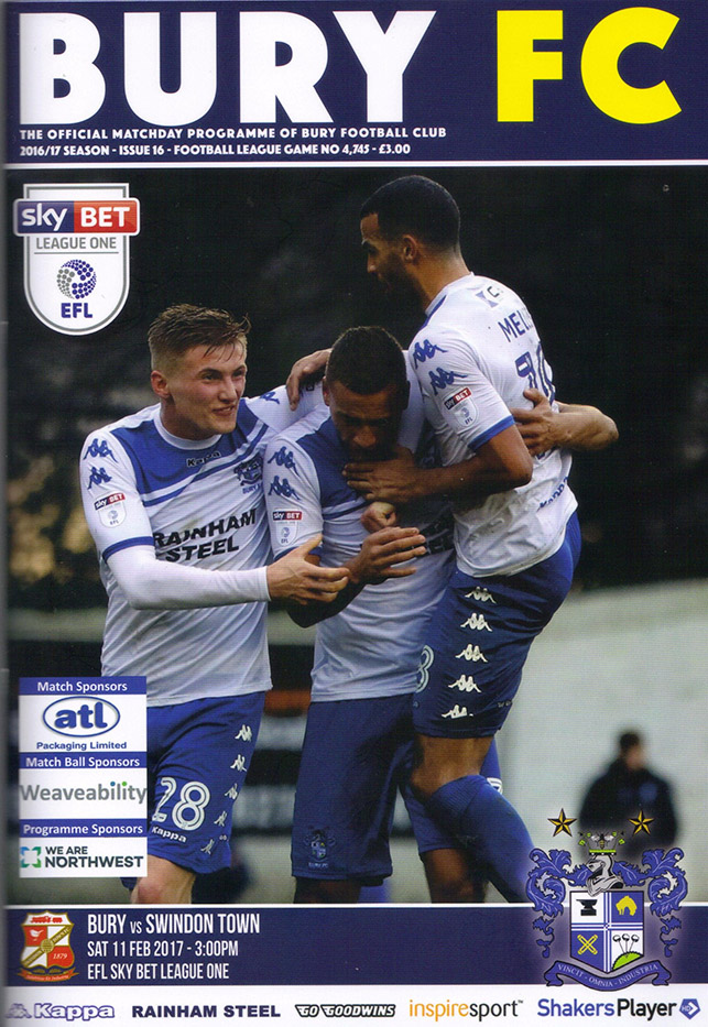 Saturday, February 11, 2017 - vs. Bury (Away)