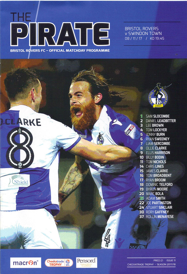 <b>Wednesday, November 8, 2017</b><br />vs. Bristol Rovers (Away)