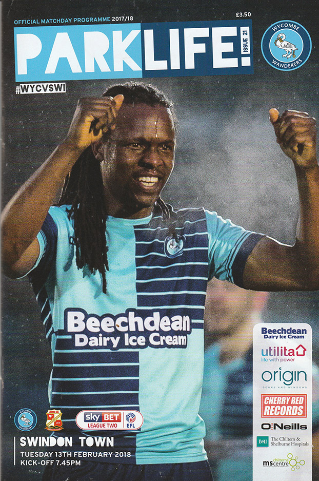 <b>Tuesday, February 13, 2018</b><br />vs. Wycombe Wanderers (Away)