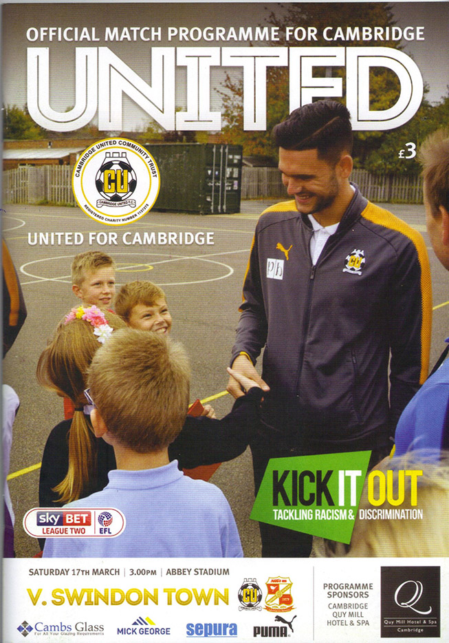 <b>Saturday, March 17, 2018</b><br />vs. Cambridge United (Away)