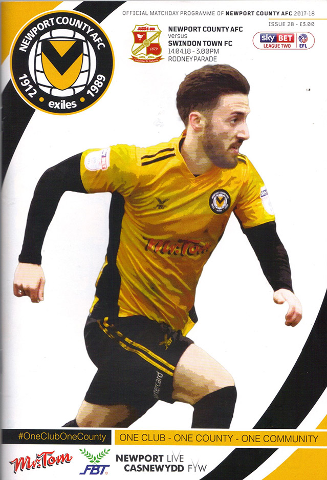 <b>Saturday, April 14, 2018</b><br />vs. Newport County (Away)